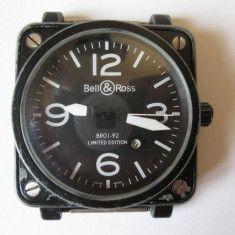 CEAS AUTOMATIC BARBATESC 45X45 MM BELL&ROSS BR01-92 LIMITED EDITION AVIATIONTYPE - Ceas barbatesc, Sport, Mecanic-Automatic, Metal necunoscut, Ziua si data, Analog