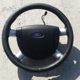 Volan piele + airbag cu comenzi Ford Mondeo MK3 - Airbag auto, MONDEO III (B5Y) - [2000 - 2007]