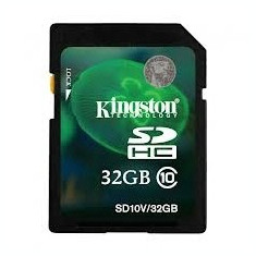 SD-HC CARD KINGSTONE model: SD10V/32GB capacitate: 32 GB clasa: 10 culoare: NEGRU - Card Micro SD