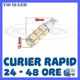 BEC AUTO LED LEDURI POZITIE T10 (W5W) - 13 SMD - POZITII, PLAFONIERA, NUMAR - Led auto ZDM, Universal