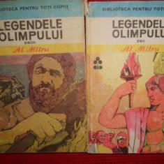 Legendele Olimpului eroii+zeii /2vol. / an 1983/565pag- Al.Mitru - Carte mitologie