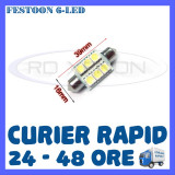 BEC AUTO LED LEDURI - SOFIT FESTOON C5W  - 39 mm 6 SMD - PLAFONIERA NUMAR, Universal, ZDM