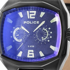 Ceas Police Fairplay PL-14191JSB-02 - Ceas barbatesc Police, Casual, Quartz, Inox, Piele, Data