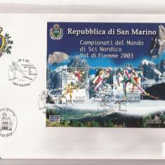 San Marino - FDC - 2003 - Ski Campionati del Mondo, Europa, Sport