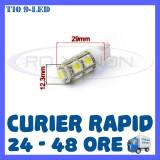 Cumpara ieftin BEC AUTO LED LEDURI POZITIE T10 (W5W) - 9 SMD - POZITII, PLAFONIERA, NUMAR