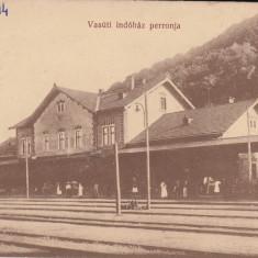 DEJ, GARA CIRCULATA NOV. ''23 - Carte Postala Transilvania 1904-1918, Printata