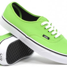 Tenisi Vans Authentic Green Flash/Black - Tenisi barbati Vans, Marime: 43, Culoare: Din imagine, Textil