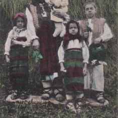 PORT NATIONAL DIN BORSA, FAMILIE DE ROMANI DIN BORSA IN COSTUME POPULARE - Carte postala tematica, Necirculata, Printata