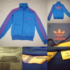 Bluza Adidas Originals (38) albastru dama casual sport retro vintage, Culoare: Din imagine