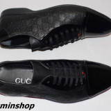 Pantofi GUCCI 100%  Piele Lacuita si Piele Naturala - Model NOU 2016 !!!