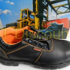 Incaltaminte protectie pantofi santier insertie metalica rezistenti la ulei - Bocanci barbati, Marime: 42, 45, Culoare: Din imagine, Piele naturala