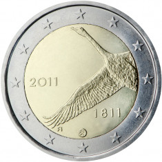 Finlanda 2 euro comemorativa 2011, UNC, Europa, Cupru-Nichel