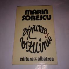 MARIN SORESCU - VIZIUNEA VIZUINII - Roman intr-o doara -, Anul publicarii: 1982