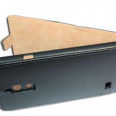 Husa Huawei Ascend G526 Flip Case Inchidere Magnetica Black - Husa Telefon Huawei, Negru, Piele Ecologica, Cu clapeta, Toc