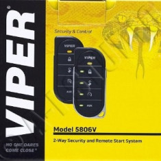 ALARMA AUTO CU PORNIRE MOTOR DIN TELECOMANDA VIPER 5806V - Telecomanda alarma