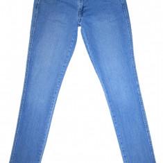 Blugi Conici H&M - (MARIME: 28) - Talie = 82 CM, Lungime = 102 CM - Blugi barbati H&M, Culoare: Albastru, Prespalat, Skinny, Normal