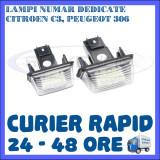 SET LAMPI NUMAR INMATRICULARE CITROEN C3, C4, C5, PEUGEOT 207, 306, 307, 407 - Led auto ZDM, Universal