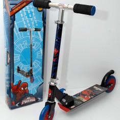 Trotineta pliabila din aluminiu - pentru copii - Spiderman - Roti Silikon - Noua - Trotineta copii