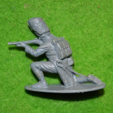 Figurina soldat, plastic, 4.5x5cm, gri