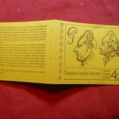 Carnet prezentare Timbre- Ziua Regelui Pictura 1972 Suedia 6 val