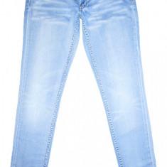 Blugi Conici H&M - (MARIME: 31 x 32) - Talie = 86 CM, Lungime = 102 CM - Blugi barbati H&M, Culoare: Bleu, Prespalat, Skinny, Normal