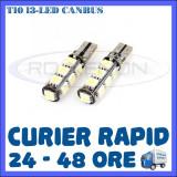 Cumpara ieftin BEC AUTO LED LEDURI POZITIE T10 W5W - 13 SMD CANBUS FARA EROARE - POZITII