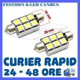BEC AUTO LED LEDURI - SOFIT FESTOON C5W 39 mm - 6 SMD CANBUS FARA EROARE - NUMAR, Volkswagen, ZDM