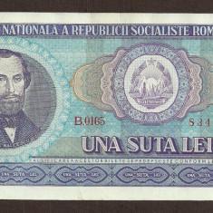 ROMANIA 100 LEI 1966 [14] XF+++ a UNC, aproape necirculata - Bancnota romaneasca