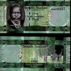 SUDANUL DE SUD- 1 POUND 2011- P 5- UNC!! - bancnota africa
