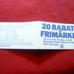 Carnet prezentare Timbre- Blazoane 1984 Suedia ,20 val