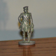 Figurina miniatura soldat (ofiter scotian) metal, 3.5cm, stanta F33,