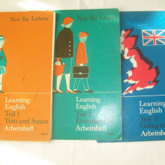 LEARNING ENGLISH TEIL 1 TOM AND SUSAN 3 VOLUME - Curs Limba Engleza Altele