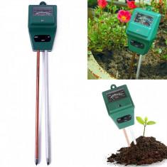 Tester de Sol 3in1 PH Umiditate Intensitate Luminoasa, Tester plante