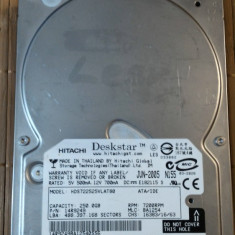 HDD PC Hitachi 250 GB IDE - Hard Disk Hitachi, 200-499 GB, Rotatii: 7200