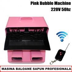 MASINA BALOANE SAPUN PROFESIONALA, TURBO, 4 MOTOARE, CU TELECOMANDA, CLUB, DJ, NUNTI. - Masina de balonase