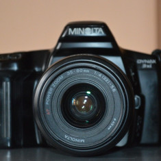 Aparat foto Minolta obiectiv 35-80mm - Aparat Foto cu Film Konica Minolta, SLR, Mediu