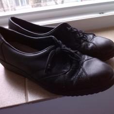 Pantofi piele rieker marime 35.5 - Pantof dama Rieker, Culoare: Negru