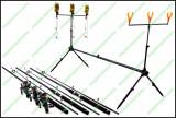 Set Complet Pescuit Rod Pod 3 Posturi  Avertizori  Swingeri  Lansete  Mulinete