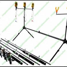 Set Complet Pescuit Rod Pod 3 Posturi Avertizori Swingeri Lansete Mulinete - Set pescuit