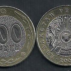 KAZAHSTAN KAZAKSTAN KAZAKHSTAN 100 TENGE 2004 [2] XF, Liv in cartonas, KM39, Asia, Cupru-Nichel