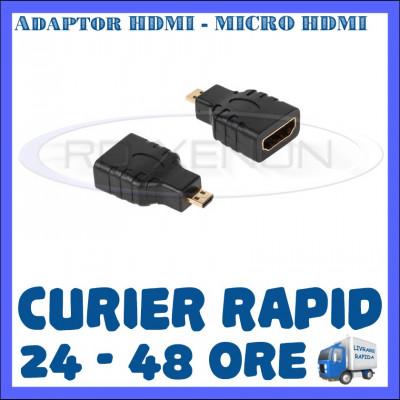 ADAPTOR HDMI MAMA - MICRO HDMI TATA - PT. CAMERA SPORT SJCAM, GOPRO foto