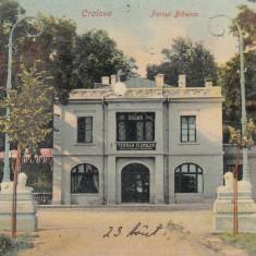 CRAIOVA PARCUL BIBESCU TERASA FLORILOR RESTAURANT- BERARIE CIRC. AUG.*905 - Carte Postala Oltenia 1904-1918, Circulata, Printata