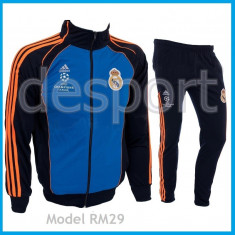 Trening ADIDAS REAL MADRID - Bluza si pantaloni conici - Modele noi Pret Special - Trening barbati, Marime: S, M, Culoare: Din imagine