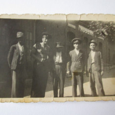 FOTO GARA ROSETI ANII 30 - Fotografie, Alb-Negru, Cladiri, Romania 1900 - 1950