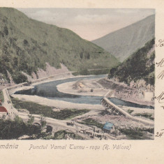 SALUTARI DIN ROMANIA PUNCTUL VAMAL TURNU ROSU (R.VALCEA) RAMNICU-VALCEA CLASICA - Carte Postala Oltenia pana la 1904, Necirculata, Printata