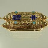Medalion aur 14 iudaica TORA REDUCERE raritate