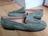 Pantofi din piele firma Bata marimea 38, sunt noi!, Verde, Cu talpa joasa