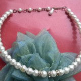 Colier perle false si zirconii