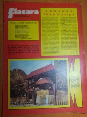 revista flacara 17 ianuarie 1976-art.com. salcia jud mehedinti si orasul covasna foto