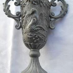 Pocal VANATORESC rar VECHI splendid executat manual de COLECTIE patina frumoasa